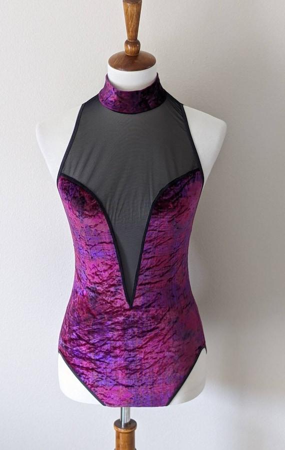 VICTORIA'S SECRET Purple Bodysuit Lingerie, Vintag