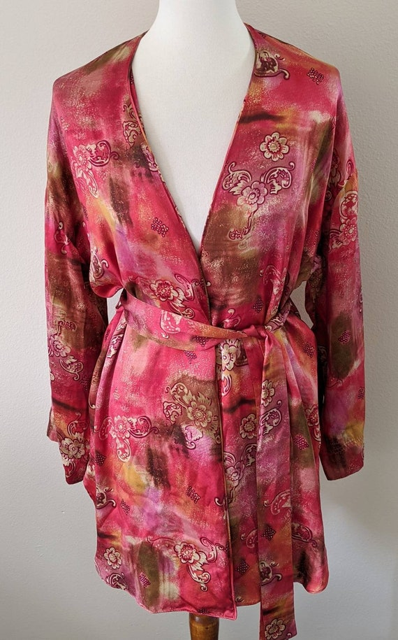 VICTORIA'S SECRET Robe, Luxury Lingerie SILK, Sil… - image 1