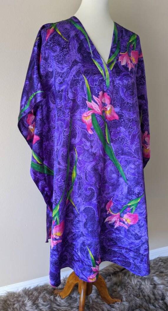 House Dress Caftan, Housecoat Floral Print by WINL
