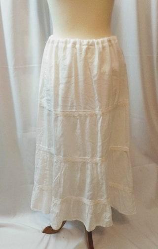 Petticoat Vintage White ,Slip Style Victorian