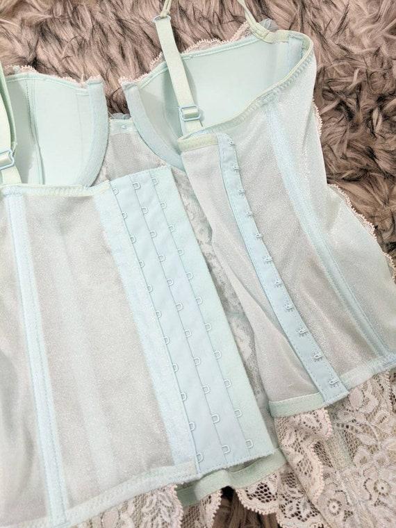 Lace Corset for Women, Light Green Corset, Green … - image 7