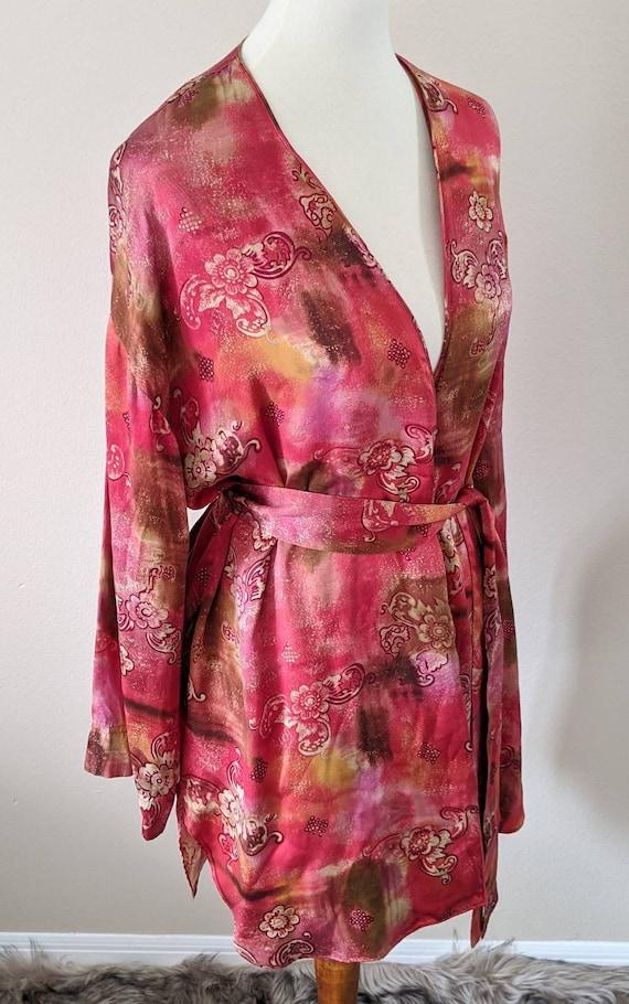 VICTORIA'S SECRET Robe, Luxury Lingerie SILK, Sil… - image 3