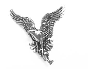 17b2049e8777 Eagle Lapel Pin, Eagle Tie Pin, Eagle Tie Tack, Bird of Prey, Eagle in  Flight, Tallon, Eagle Jewelry, Gifts for Him, Gifts for Her