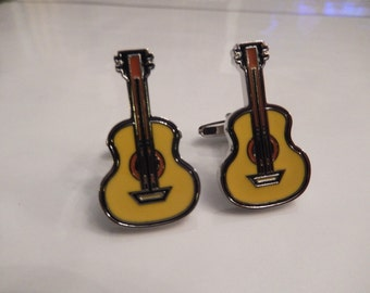 Acoustic Guitar Cufflinks, Guitar Cuff Links, Music Cufflinks, Men's Cuff Links, Wedding Cuff Links, Father's Day
