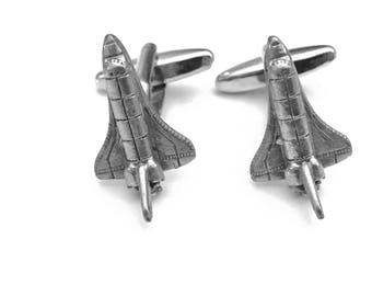 Space Shuttle Cuff Links, Space Age Cuff Links, Space Shuttle, Men's Cuff Links, Wedding Gift, Father's Day