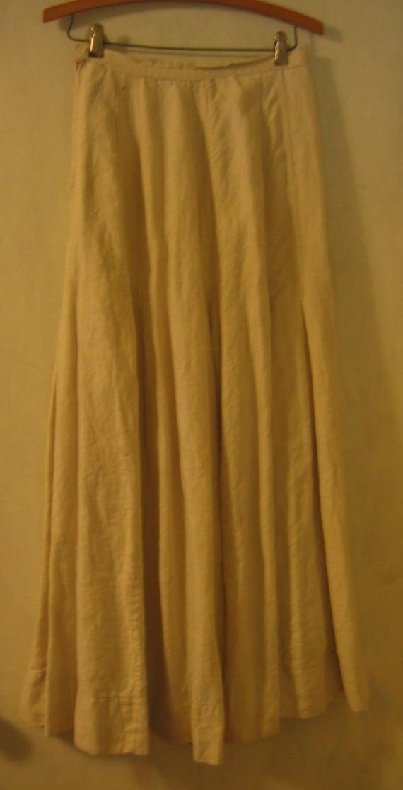 1800s Victorian Edwardian Linen Petticoat Skirt