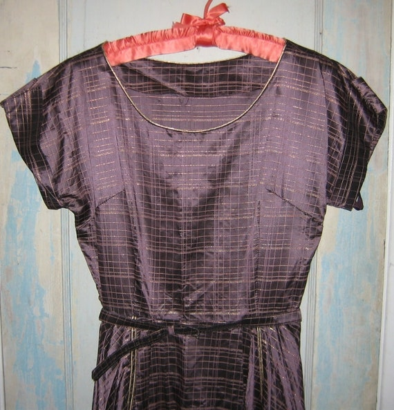 1950's Taffeta Dress Iridescent