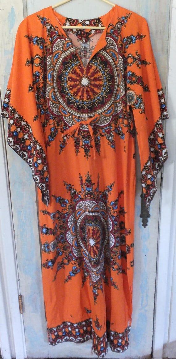 African Dashiki Caftan Ethnic Tribal Boho Hippie O