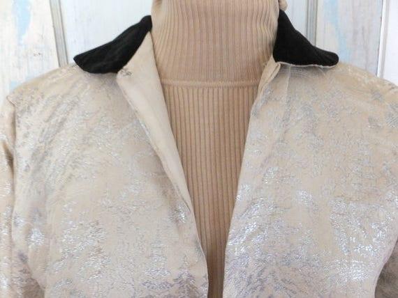 Silver/Cream Brocade Jacket