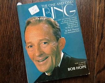 The One and Only Bing First Edition Book BING CROSBY by Bob Thomas, Bob Hope Vintage Coffee Table Book Movie Film Actor Singer