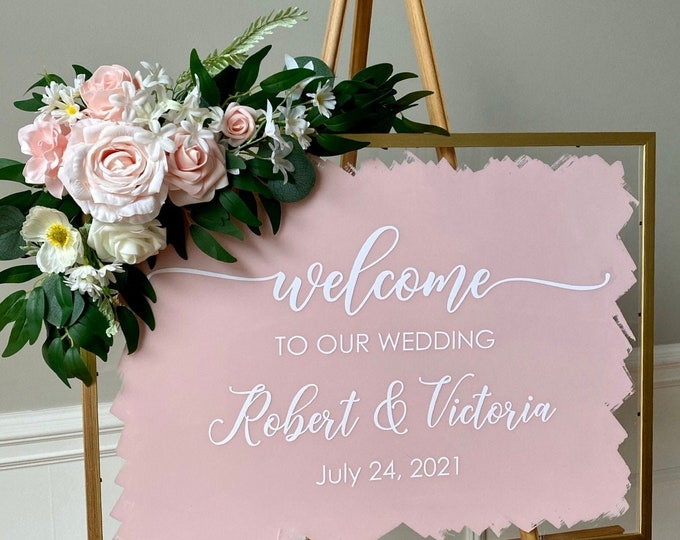 Welcome Wedding Decal for Sign Making Vinyl Decal for Wedding Sign Elegant Welcome to our Wedding Vinyl Decal with Names and Date