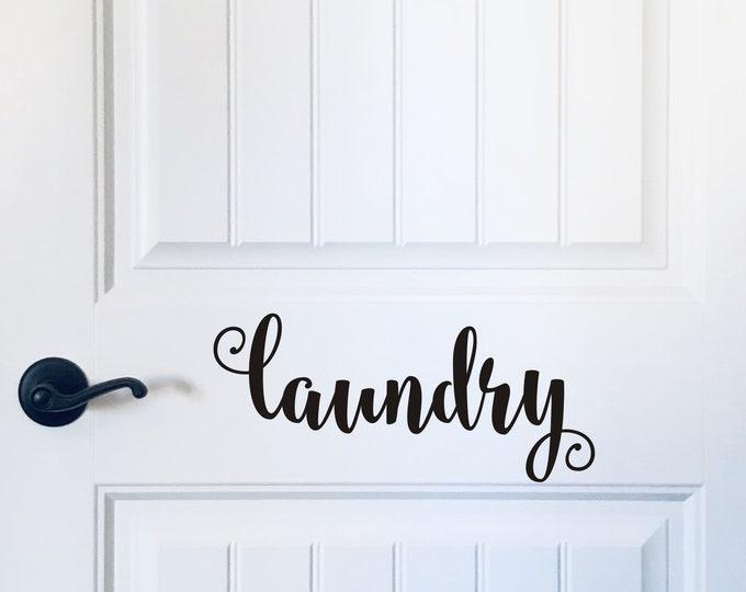 Laundry Door Decal Vinyl Laundry Decal for Wall or Door Laundry Sign Vinyl Farmhouse Laundry Room Door Decal
