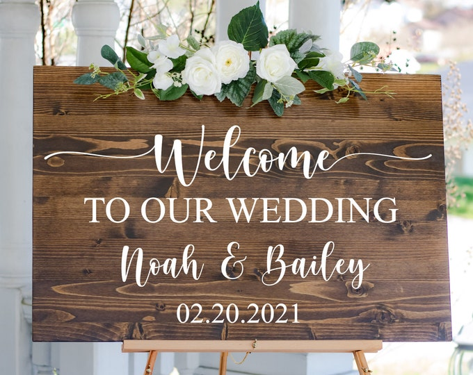 Welcome to our Wedding Vinyl Decal for DIY Sign Making Modern Vinyl Decal for Mirror or Plexiglass Wedding Sign Vinyl Wedding Decor