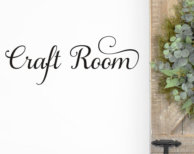 Craft Room Wall Decal Vinyl Decal for Craft or Sewing Room Craft Room Sign Vinyl for Wall or Door Home Decor