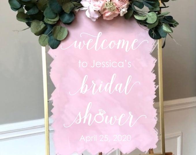 Bridal Shower Decal for Sign Decal for Mirror or Chalkboard Bridal Shower or Brunch Vinyl Decal