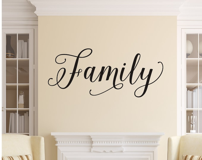 Family Wall Decal Vinyl Decal for Gallery Wall Family Wall Sticker Home Decor Family Vinyl Wall Decal
