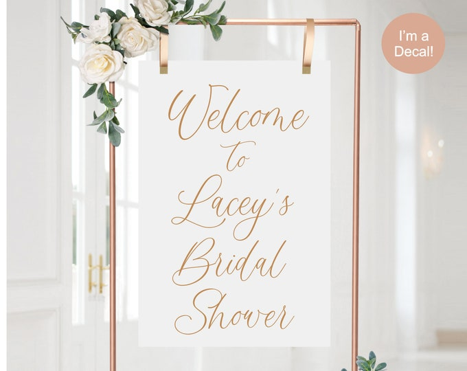Bridal Shower Decal for Sign Making Modern Bridal Shower Vinyl for Mirror or Acrylic Gold Decal Copper Wedding Decal Bridal Shower Welcome