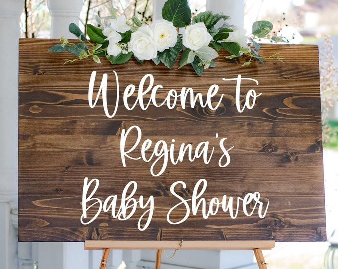 Baby Shower Welcome Decal for Sign Making Vinyl Decal for Baby Shower Entrance Welcome New Baby Mom to Be Shower Decor Sign DIY