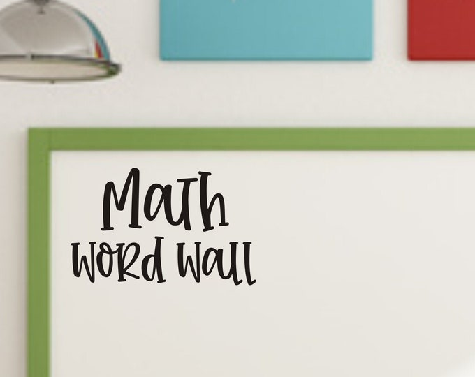 Math Decal for Word Wall Math Classroom Decal Teacher Classroom Decor Math Teacher Word Wall Vinyl Decal Sticker Back to School