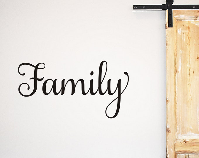 Family Wall Decal Family Sign Vinyl Decal Home Decor Family Decal for Gallery Wall Family Sticker