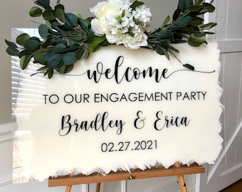 Engagement Party Decal for Sign Making Vinyl Decal for Engagement Mirror Chalkboard or Plexiglass Modern Decal for Welcome Sign Making