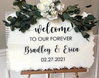 Welcome to our Forever Decal for Sign Making Vinyl Decal for Wedding Sign Wedding Decor Wedding Mirror or Chalkboard Wedding Plexiglass DIY
