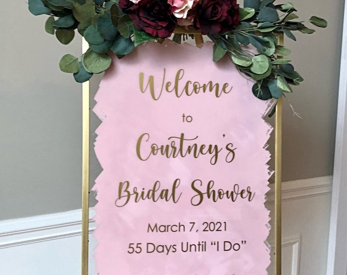 Bridal Shower Decal for Sign Making Vinyl Decor for Bridal Shower Welcome Decal for Bridal Shower DIY Decal for Shower Decor Personalized