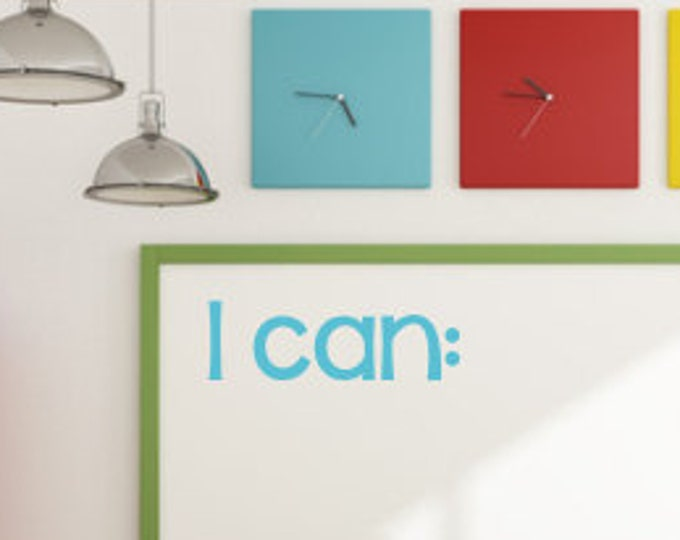 I Can Decal Classroom Decal Teacher Decal Vinyl Wall Decal Whiteboard Decal Chalkboard Decal Elementary Decal Classroom Decor Vinyl Decal