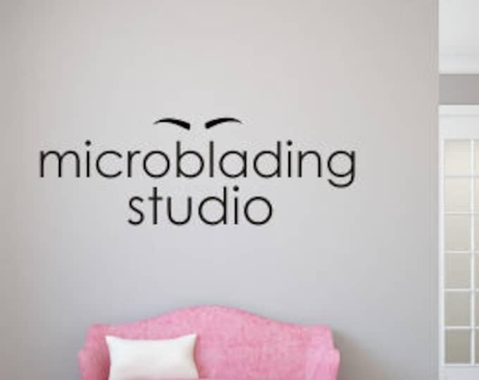 Microblading Studio Decal Vinyl Wall Decal Eyebrow Artist Salon Wall Decal Wall Decor for Spa Salon Wall Decal Cosmetology Wall Decal