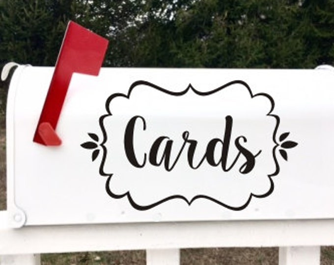 Cards Wedding Decal Vinyl Decal for Wedding Gift Table Cards and Gifts Rustic Barn Wedding Decal Various Sized and Colors Mailbox Cards DIY