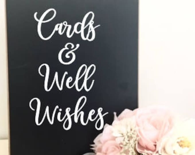 Cards and Well Wishes Decal DIY Vinyl Decal for Wedding Decor