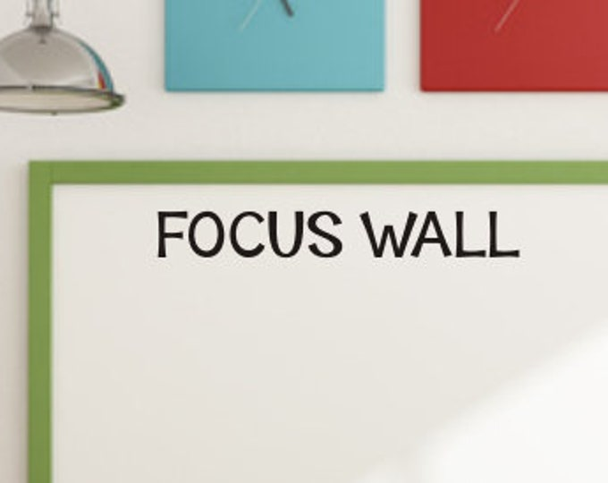 Focus Wall Decal Classroom Vinyl Decal Classroom Decor Teacher Decal Back to School Elementary Focus Wall Whiteboard Bulletin Board