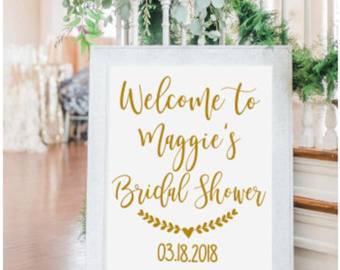 Bridal Shower Decal-Personalized Wedding Shower Decal Decal Only Lettering for Sign Bridal Shower Sign Lettering DIY Custom Vinyl Decal