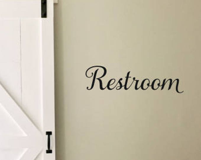 Restroom Wall Decal Door Decal for Business Nail Salon Decal Hair Salon Vinyl Decal Decor For Business Restroom Vinyl