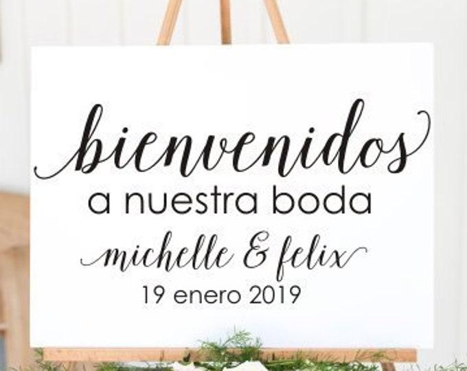 Bienvenidos Boda Decal Vinyl Decal for Sign Wedding Sign Decal Vinyl Decor Spanish Wedding Decal Spanish Decor Wedding DIY Sign Vinyl Decal