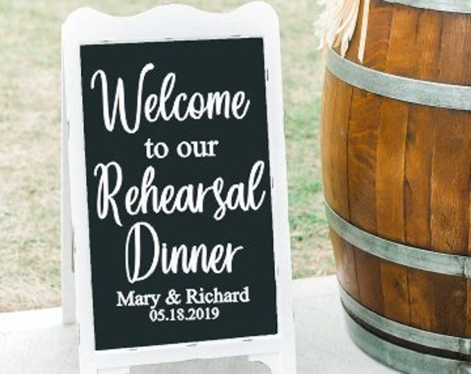 Rehearsal Dinner Decal Wedding Sign Couples Dinner Couples Shower Wedding Decor Vinyl Decal DIY Lettering for Chalkboard Wedding Decor Sign
