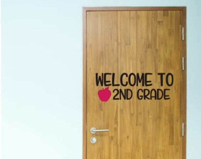 Welcome To Classroom Decal Vinyl Decor for School Back to School Teacher Decal Classroom Door Decal Wall Decal School Teacher Decor