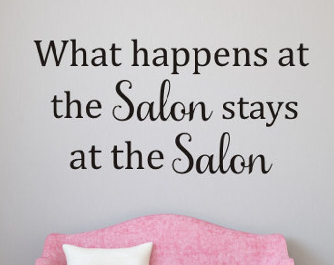 Salon Wall Decal Vinyl Decor for Hair Salon Nail Salon Wall Decor Vinyl Wall Decal Spa Hair Salon Wall Decal Lettering for Business