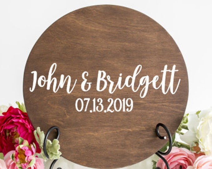 Names and Date Decal Vinyl Decal for Wedding Sign DIY Decal for Wedding Guestbook Rustic Wedding Sign Barn Wedding Decor Personalized Vinyl
