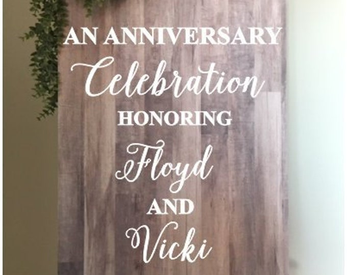 Anniversary Vinyl Decal for Sign Making Couples Anniversary Sign Anniversary Party Decor Welcome Sign for Celebration