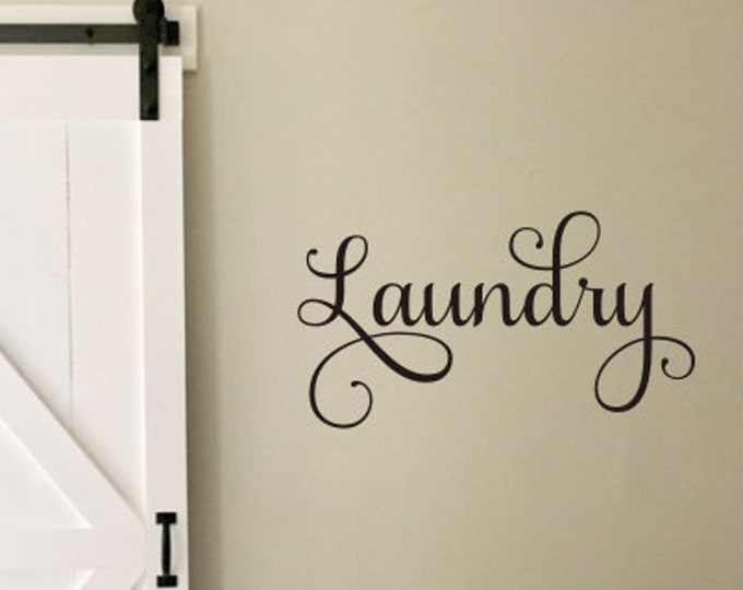 Laundry Wall Decal Sign Lettering for Laundry Room Farmhouse Wall Decal Rustic Farmhouse Decor Laundry Decal Home and Living