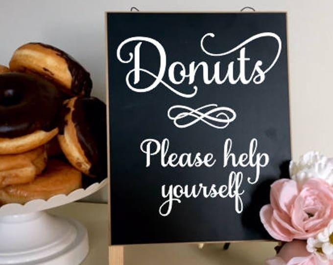 Donuts Decal Wedding Vinyl Decal Wedding Decor Bridal Shower Donut Sign Deal DIY Lettering for Chalkboard Baby Shower Donut Bar