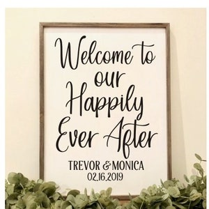 Welcome Wedding Decal Vinyl Decor for Wedding Sign Welcome Decor Rustic Barn Wedding DIY Lettering vinyl Sign decal