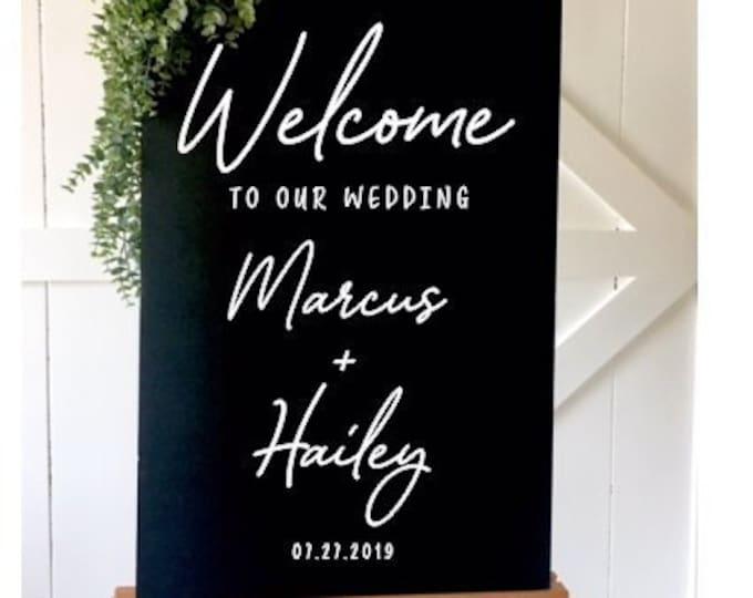 Modern Wedding Decal Minimalist Handwritten Decal for Wedding Sign DIY Vinyl Decal for Mirror Decal for Chalkboard Wedding Decor Modern