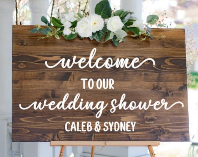 Wedding Shower Decal Couples Shower Vinyl for Sign Wedding Shower Sign Vinyl Decal Personalized Decal Wedding Shower Sign Vinyl Decal