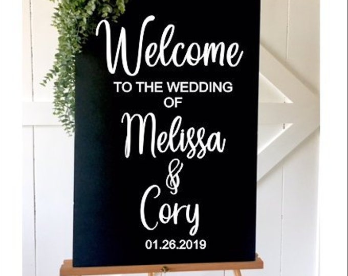 Welcome Wedding Decal-Wedding Sign -DIY Vinyl Decal for Wedding Ceremony-Personalized Wedding Decor-Modern Wedding Sign-Rustic Wedding