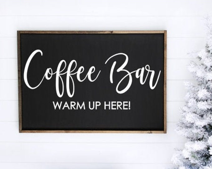 Coffee Bar Decal Vinyl Decal for Sign Making Coffee Bar Warm Up Here Sign Vinyl Decal for Chalkboard Wedding Decal Christmas