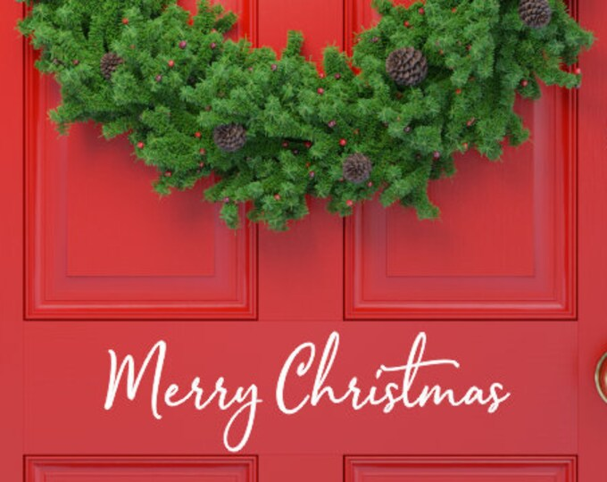 Merry Christmas Decal Vinyl Door Decal for Christmas Decal for Porch Sign Making Vinyl Decor Holiday Decal for Mirror Sign chalkboard