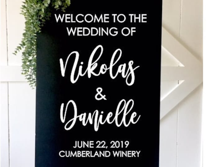 Modern Wedding Decal Welcome Wedding Vinyl Decal for Sign Making DIY Lettering for Wedding Modern Minimalist Wedding Sign Decor