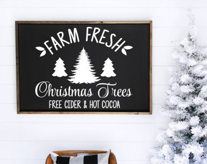 Farm Fresh Christmas Trees Decal Vinyl Decor for Holiday Decal for Christmas Sign Making DIY Lettering for Sign Christmas Tree Farm Sign